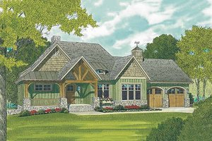 House Plan Design - Craftsman style home, elevation