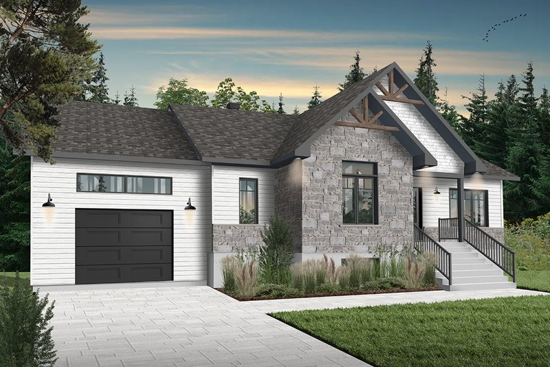 Country Exterior - Front Elevation Plan #23-2721