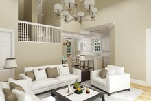 Architectural House Design - Cottage Interior - Family Room Plan #45-595