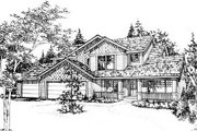 Traditional Style House Plan - 4 Beds 2.5 Baths 2434 Sq/Ft Plan #78-125 Exterior - Front Elevation
