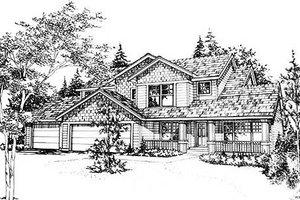 Traditional Exterior - Front Elevation Plan #78-125