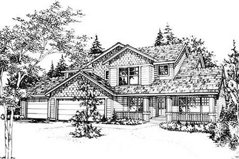Traditional Style House Plan - 4 Beds 2.5 Baths 2434 Sq/Ft Plan #78-125
