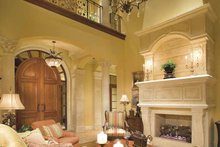 Architectural House Design - Mediterranean Interior - Family Room Plan #930-398