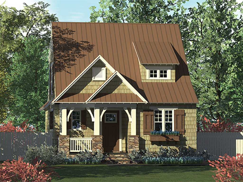 Craftsman style house plan 3 beds 2 5 baths 1676 sq ft for Craftsman vs mission style