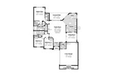 Mediterranean Floor Plan - Main Floor Plan Plan #417-801