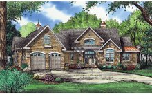 European Exterior - Front Elevation Plan #929-903