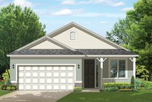 Ranch Exterior - Front Elevation Plan #1058-101