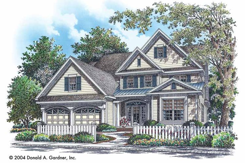 Traditional Exterior - Front Elevation Plan #929-740 - Houseplans.com