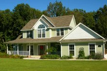 Architectural House Design - Country Exterior - Front Elevation Plan #11-206