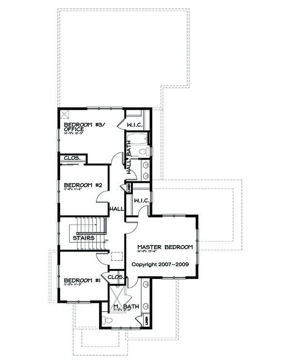 Prairie Floor Plan - Upper Floor Plan Plan #434-2
