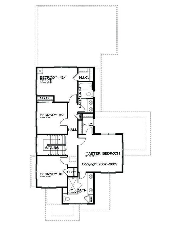 Prairie Floor Plan - Upper Floor Plan #434-2