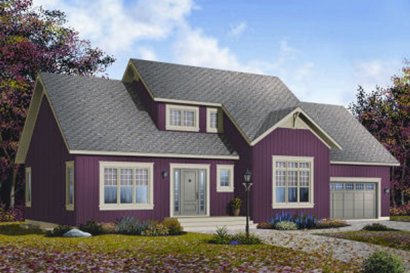Country Exterior - Front Elevation Plan #23-726