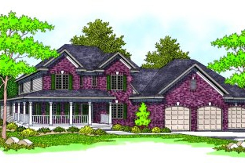 Country Exterior - Front Elevation Plan #70-470