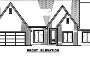 European Style House Plan - 4 Beds 2.5 Baths 2509 Sq/Ft Plan #923-187 Exterior - Front Elevation