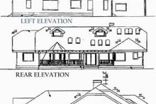 Dream House Plan - Traditional Exterior - Rear Elevation Plan #60-220