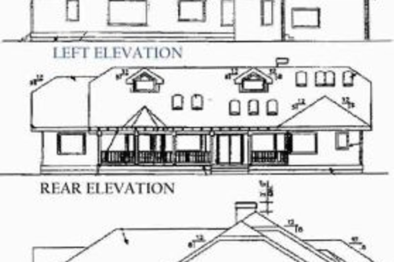 Traditional Exterior - Rear Elevation Plan #60-220 - Houseplans.com