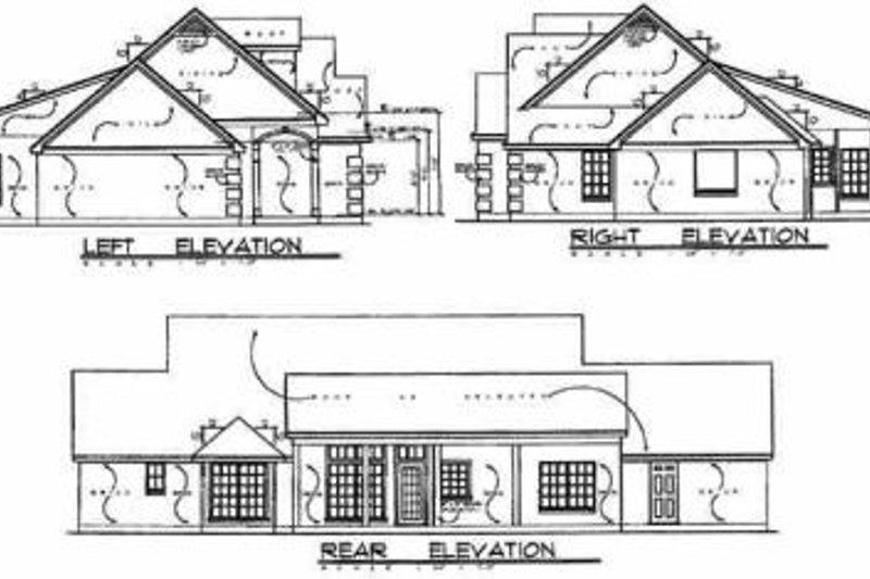 Traditional Exterior - Rear Elevation Plan #40-227 - Houseplans.com