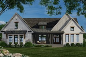 Farmhouse Exterior - Front Elevation Plan #51-1159