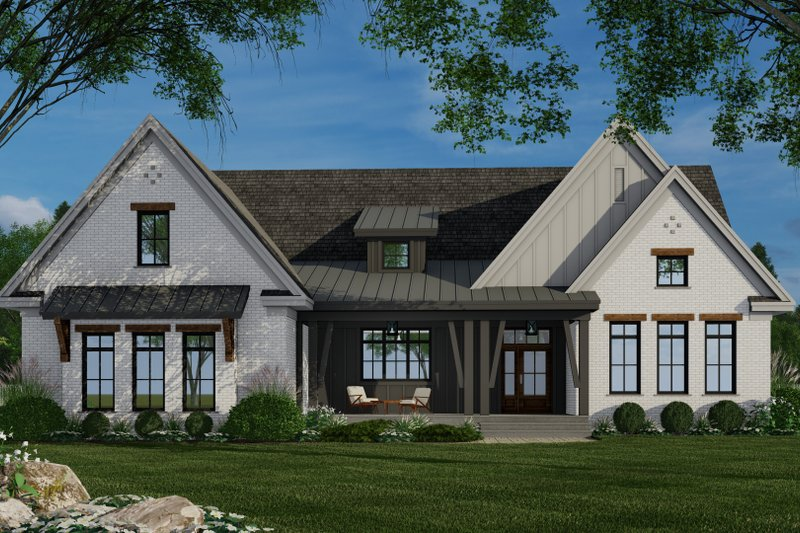Architectural House Design - Farmhouse Exterior - Front Elevation Plan #51-1159