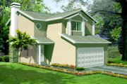 Adobe / Southwestern Style House Plan - 3 Beds 2.5 Baths 1277 Sq/Ft Plan #1-1069 Exterior - Front Elevation