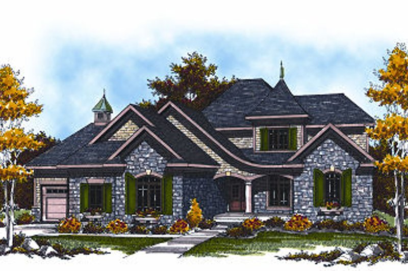 Dream House Plan - Cottage Exterior - Front Elevation Plan #70-883