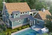 Craftsman Style House Plan - 3 Beds 3 Baths 1825 Sq/Ft Plan #942-52 Exterior - Rear Elevation