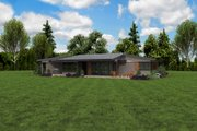 Contemporary Style House Plan - 4 Beds 2.5 Baths 2699 Sq/Ft Plan #48-1014 Exterior - Outdoor Living