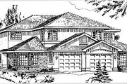 Traditional Style House Plan - 3 Beds 2.5 Baths 2918 Sq/Ft Plan #18-239 Exterior - Front Elevation