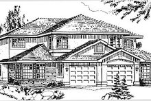 Traditional Exterior - Front Elevation Plan #18-239