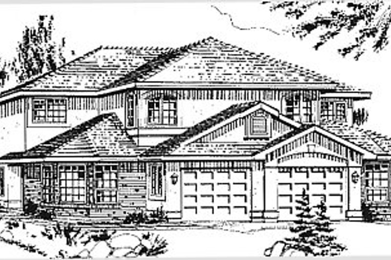 House Blueprint - Traditional Exterior - Front Elevation Plan #18-239