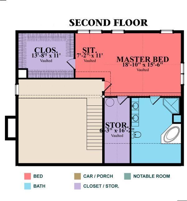 Log Floor Plan - Upper Floor Plan Plan #63-280