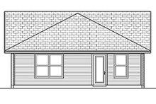 Ranch Exterior - Rear Elevation Plan #84-452
