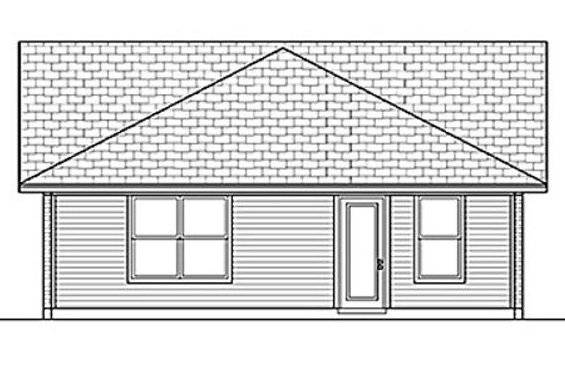 Ranch Exterior - Rear Elevation Plan #84-452 - Houseplans.com