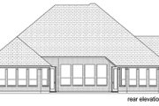 European Style House Plan - 3 Beds 3 Baths 2836 Sq/Ft Plan #84-562 Exterior - Rear Elevation