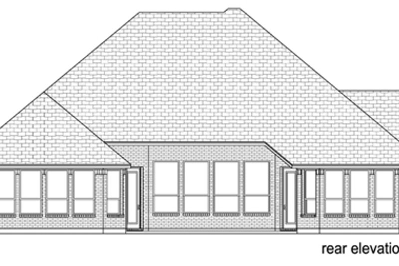 European Exterior - Rear Elevation Plan #84-562 - Houseplans.com