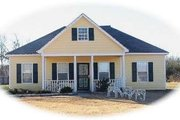 Farmhouse Style House Plan - 3 Beds 2 Baths 1034 Sq/Ft Plan #81-1373 Exterior - Front Elevation