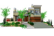 Modern Style House Plan - 3 Beds 3.5 Baths 1845 Sq/Ft Plan #484-2 Exterior - Front Elevation