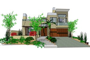 Modern Exterior - Front Elevation Plan #484-2