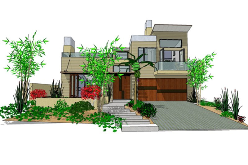Dream House Plan - Modern Exterior - Front Elevation Plan #484-2