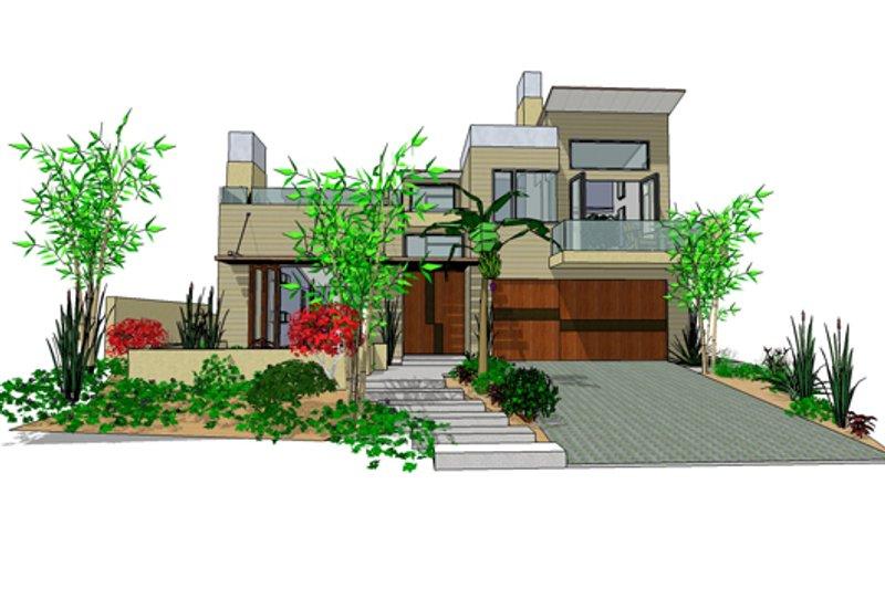 Dream House Plan - Modern Exterior - Front Elevation Plan #484-2
