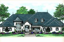 European Exterior - Front Elevation Plan #417-816