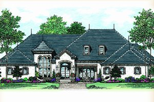 House Plan Design - European Exterior - Front Elevation Plan #417-816