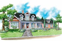 Architectural House Design - Victorian Exterior - Front Elevation Plan #930-195
