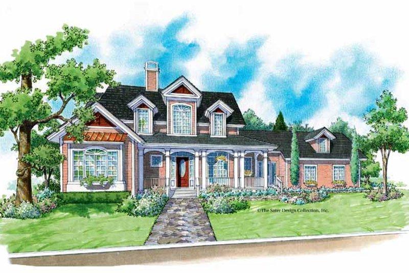 Architectural House Design - Victorian Exterior - Front Elevation Plan #930-195