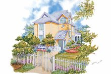 Dream House Plan - Traditional Exterior - Front Elevation Plan #930-65