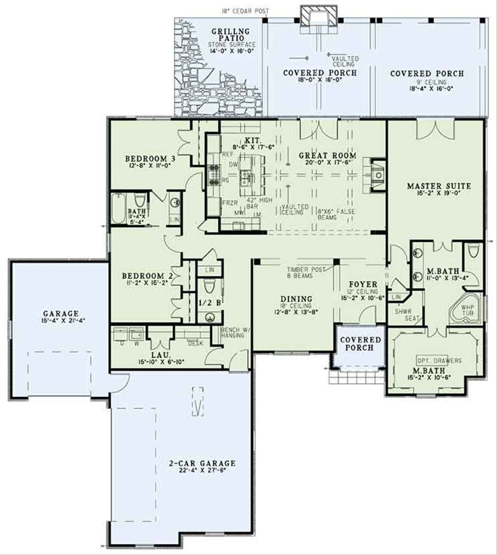 European style house plan 3 beds 2 5 baths 2360 sq ft for European floor plans