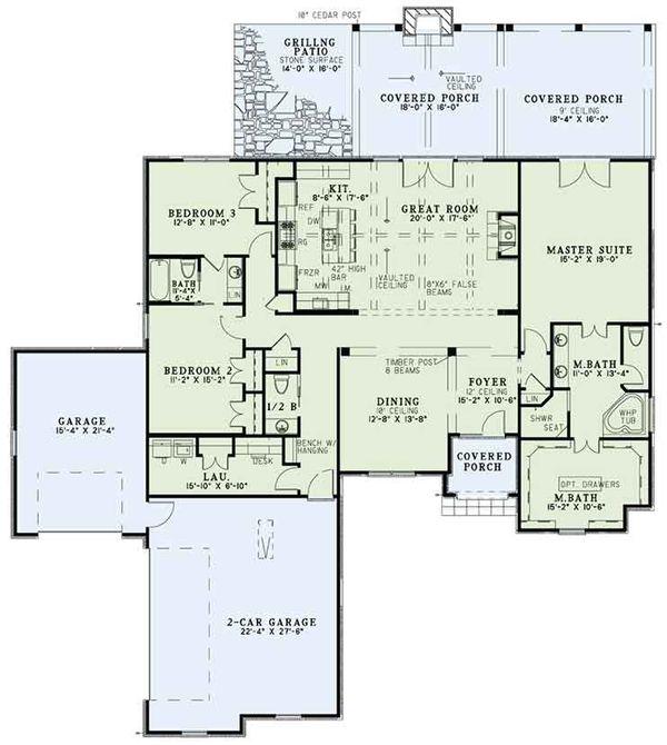 European Floor Plan - Main Floor Plan #17-3389