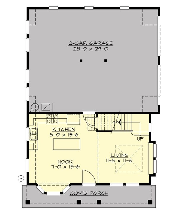 Cottage Floor Plan - Main Floor Plan Plan #132-192