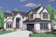 Traditional Exterior - Front Elevation Plan #509-356