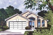 House Plan Design - Mediterranean Exterior - Front Elevation Plan #417-586